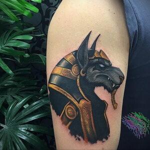 Пример рисунка татуировки Сфинкс 14.12.2020 №048 -sphinx tattoo-tattoo-photo.ru