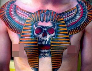 Пример рисунка татуировки Сфинкс 14.12.2020 №067 -sphinx tattoo-tattoo-photo.ru