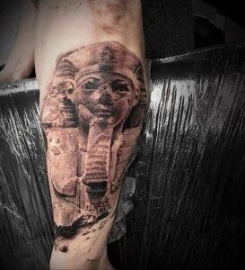 Пример рисунка татуировки Сфинкс 14.12.2020 №072 -sphinx tattoo-tattoo-photo.ru