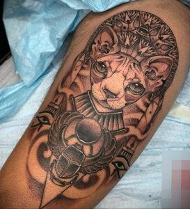 Пример рисунка татуировки Сфинкс 14.12.2020 №077 -sphinx tattoo-tattoo-photo.ru