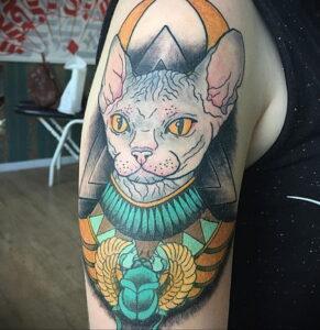 Пример рисунка татуировки Сфинкс 14.12.2020 №079 -sphinx tattoo-tattoo-photo.ru