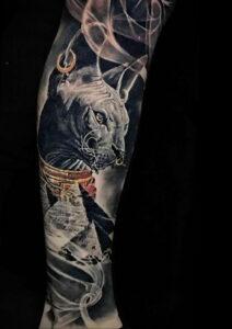 Пример рисунка татуировки Сфинкс 14.12.2020 №086 -sphinx tattoo-tattoo-photo.ru