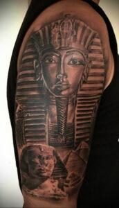 Пример рисунка татуировки Сфинкс 14.12.2020 №087 -sphinx tattoo-tattoo-photo.ru