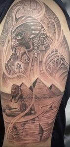 Пример рисунка татуировки Сфинкс 14.12.2020 №098 -sphinx tattoo-tattoo-photo.ru