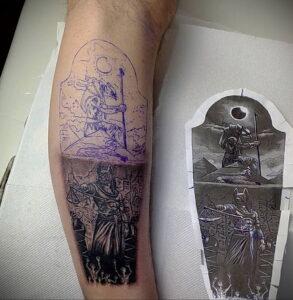 Пример рисунка татуировки Сфинкс 14.12.2020 №099 -sphinx tattoo-tattoo-photo.ru
