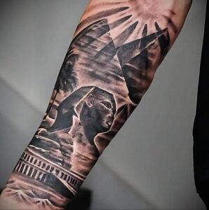Пример рисунка татуировки Сфинкс 14.12.2020 №103 -sphinx tattoo-tattoo-photo.ru