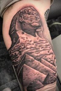 Пример рисунка татуировки Сфинкс 14.12.2020 №108 -sphinx tattoo-tattoo-photo.ru