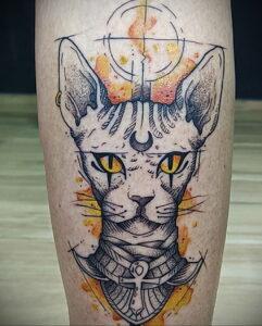 Пример рисунка татуировки Сфинкс 14.12.2020 №112 -sphinx tattoo-tattoo-photo.ru