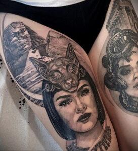 Пример рисунка татуировки Сфинкс 14.12.2020 №116 -sphinx tattoo-tattoo-photo.ru