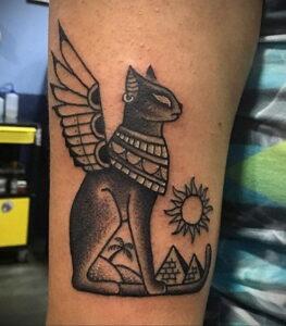 Пример рисунка татуировки Сфинкс 14.12.2020 №121 -sphinx tattoo-tattoo-photo.ru