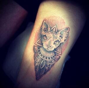 Пример рисунка татуировки Сфинкс 14.12.2020 №133 -sphinx tattoo-tattoo-photo.ru