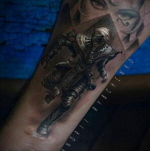 Пример рисунка татуировки Сфинкс 14.12.2020 №145 -sphinx tattoo-tattoo-photo.ru