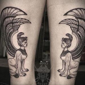 Пример рисунка татуировки Сфинкс 14.12.2020 №146 -sphinx tattoo-tattoo-photo.ru