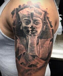 Пример рисунка татуировки Сфинкс 14.12.2020 №156 -sphinx tattoo-tattoo-photo.ru