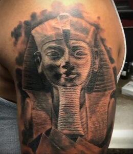 Пример рисунка татуировки Сфинкс 14.12.2020 №157 -sphinx tattoo-tattoo-photo.ru