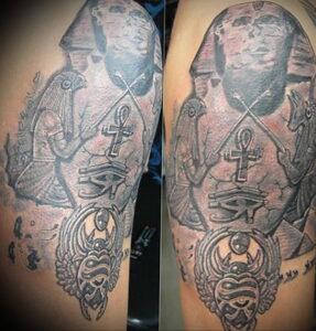 Пример рисунка татуировки Сфинкс 14.12.2020 №161 -sphinx tattoo-tattoo-photo.ru