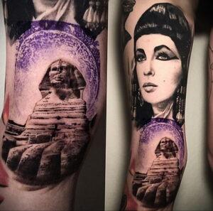 Пример рисунка татуировки Сфинкс 14.12.2020 №179 -sphinx tattoo-tattoo-photo.ru