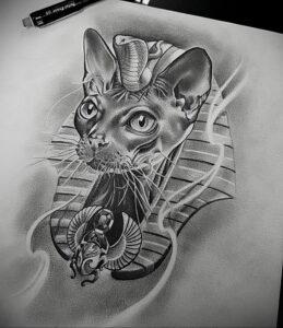 Пример рисунка татуировки Сфинкс 14.12.2020 №180 -sphinx tattoo-tattoo-photo.ru