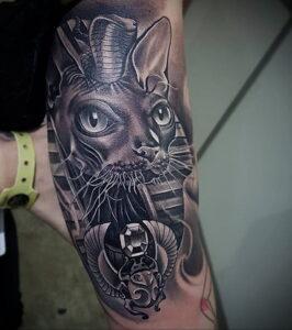 Пример рисунка татуировки Сфинкс 14.12.2020 №184 -sphinx tattoo-tattoo-photo.ru