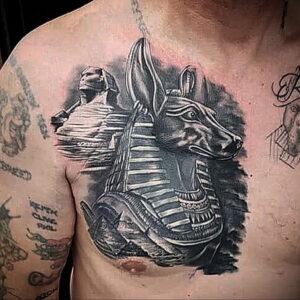 Пример рисунка татуировки Сфинкс 14.12.2020 №185 -sphinx tattoo-tattoo-photo.ru