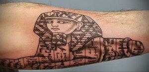 Пример рисунка татуировки Сфинкс 14.12.2020 №192 -sphinx tattoo-tattoo-photo.ru