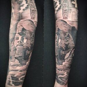 Пример рисунка татуировки Сфинкс 14.12.2020 №193 -sphinx tattoo-tattoo-photo.ru