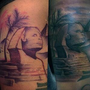 Пример рисунка татуировки Сфинкс 14.12.2020 №194 -sphinx tattoo-tattoo-photo.ru