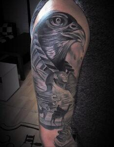 Пример рисунка татуировки Сфинкс 14.12.2020 №196 -sphinx tattoo-tattoo-photo.ru