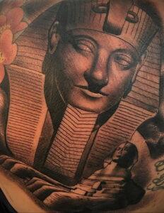 Пример рисунка татуировки Сфинкс 14.12.2020 №197 -sphinx tattoo-tattoo-photo.ru