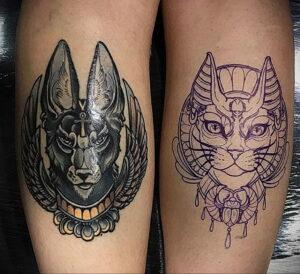 Пример рисунка татуировки Сфинкс 14.12.2020 №205 -sphinx tattoo-tattoo-photo.ru