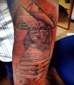 Пример рисунка татуировки Сфинкс 14.12.2020 №211 -sphinx tattoo-tattoo-photo.ru