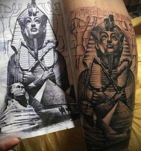 Пример рисунка татуировки Сфинкс 14.12.2020 №216 -sphinx tattoo-tattoo-photo.ru