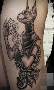 Пример рисунка татуировки Сфинкс 14.12.2020 №218 -sphinx tattoo-tattoo-photo.ru