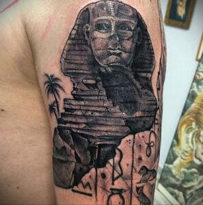 Пример рисунка татуировки Сфинкс 14.12.2020 №219 -sphinx tattoo-tattoo-photo.ru