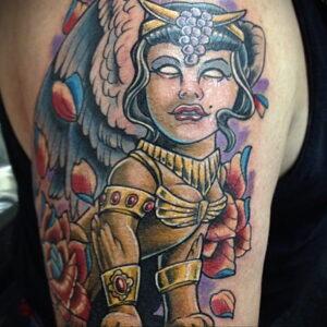 Пример рисунка татуировки Сфинкс 14.12.2020 №222 -sphinx tattoo-tattoo-photo.ru