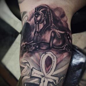 Пример рисунка татуировки Сфинкс 14.12.2020 №226 -sphinx tattoo-tattoo-photo.ru