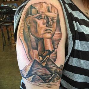 Пример рисунка татуировки Сфинкс 14.12.2020 №227 -sphinx tattoo-tattoo-photo.ru