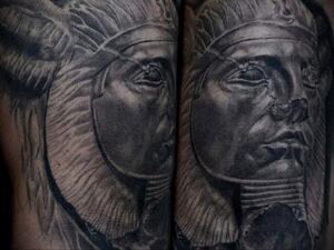 Пример рисунка татуировки Сфинкс 14.12.2020 №230 -sphinx tattoo-tattoo-photo.ru