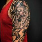 Пример рисунка татуировки Сфинкс 14.12.2020 №233 -sphinx tattoo-tattoo-photo.ru