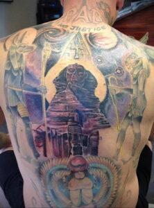 Пример рисунка татуировки Сфинкс 14.12.2020 №236 -sphinx tattoo-tattoo-photo.ru
