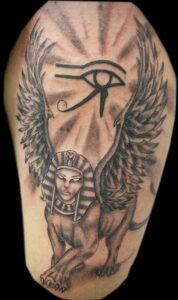 Пример рисунка татуировки Сфинкс 14.12.2020 №239 -sphinx tattoo-tattoo-photo.ru