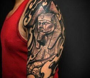 Пример рисунка татуировки Сфинкс 14.12.2020 №242 -sphinx tattoo-tattoo-photo.ru