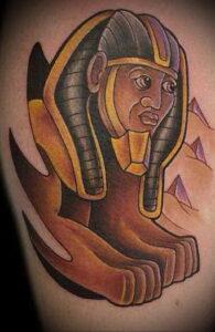 Пример рисунка татуировки Сфинкс 14.12.2020 №245 -sphinx tattoo-tattoo-photo.ru