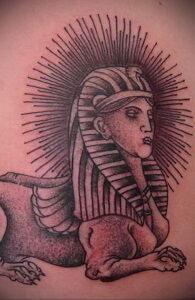 Пример рисунка татуировки Сфинкс 14.12.2020 №246 -sphinx tattoo-tattoo-photo.ru