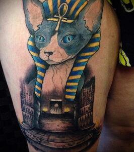 Пример рисунка татуировки Сфинкс 14.12.2020 №251 -sphinx tattoo-tattoo-photo.ru