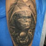 Пример рисунка татуировки Сфинкс 14.12.2020 №252 -sphinx tattoo-tattoo-photo.ru