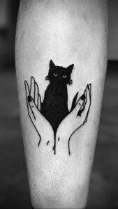 Фото маленькой тату для ведьмы 28.01.2021 №0002 - small witch tattoo - tattoo-photo.ru