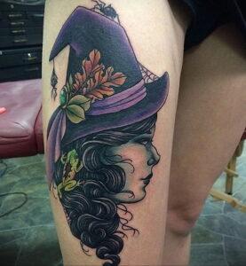 Фото рисунка тату НА ТЕМУ ВЕДЬМ 28.01.2021 №0001 - witch tattoo - tattoo-photo.ru
