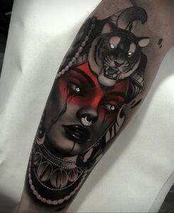 Фото рисунка тату НА ТЕМУ ВЕДЬМ 28.01.2021 №0009 - witch tattoo - tattoo-photo.ru