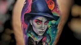 Фото рисунка тату НА ТЕМУ ВЕДЬМ 28.01.2021 №0010 - witch tattoo - tattoo-photo.ru